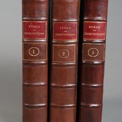Burgh, James. Political Disquisition; or, an Enquiry into Public Errors