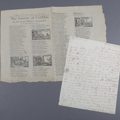 More, Hannah. Partial Autograph Letter Addressed to Spencer Percival