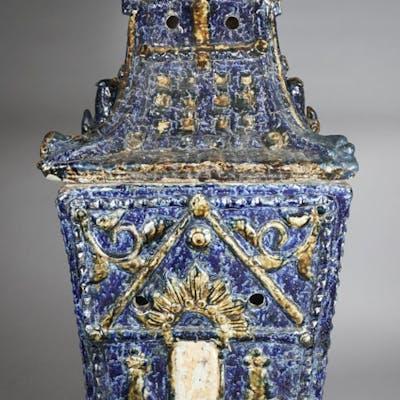 South East Asian Blue Glazed Pottery Shrine or Heater FR3SHSA