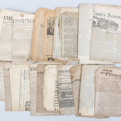 Group of (22) 19C/20C newspapers. FR3SH.