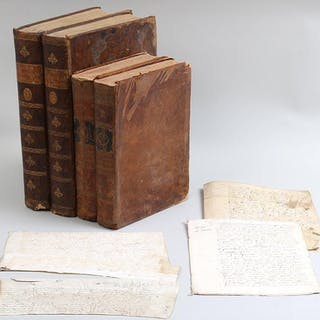 Group of (8) French 16C & 17C documents and 18C & 19C books. FR3SH.