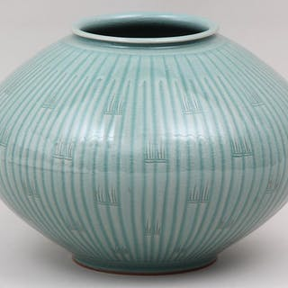 Asian celadon glazed porcelain bowl. FR3SH