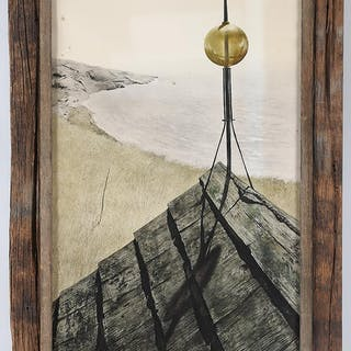 After ANDREW WYETH, ''Northern Point'', color collotype. FR3SH