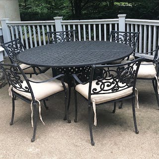 Outdoor Dining Table with Chairs, FR3SHRE7