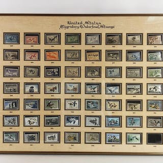 Lot of 63 Framed Stamps, RA6A