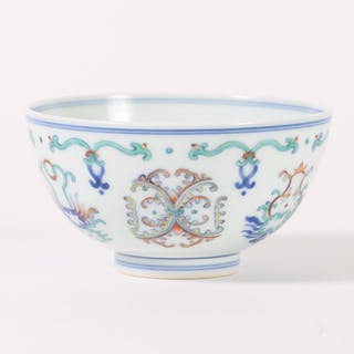 Chinese Porcelain Doucai Bowl, Yongzheng mark but Modern FR3SHLM