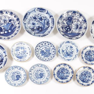 Group of Thirteen Delft Dishes FR3SHLM
