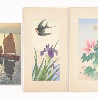 Jo (Hashimoto Yuzuru) 2 Japanese Woodblock Prints, and a lithograph