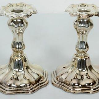 Paret Ljusstakar i Nysilver - Barock stil