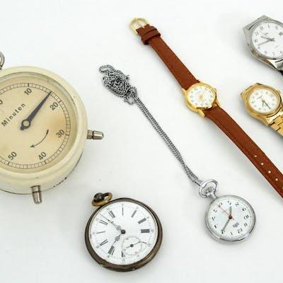 Parti Klockor - Armbandsur - Fickur - Äggklocka