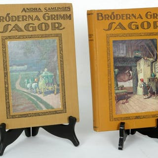 Bröderna Grimm Sagor - 2 st. Böcker - 1925
