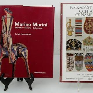 Marino Marini & Folkkonst i Europa och Asien - Konstböcker