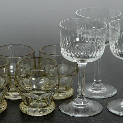 4 st. Likörglas & 5 st. Snapsglas - Retro - Eda