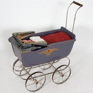 Leksaker - Barnvagn - Docka - Vintage