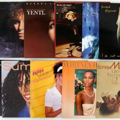 11 st. Lp-skivor - Whitney Houston - Donna Summer m.fl.