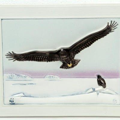 Väggrelief i Keramik - Staffan Johnson - Jie Gantofta - WWF