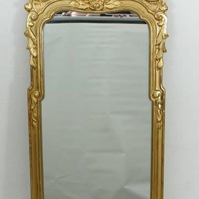 Guldförgylld Spegel - Guldfärgad - Rokoko stil