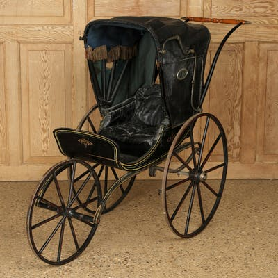 Sale 340 Lot 607 A Victorian babies pram having a wooden