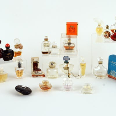 Sale 347 Lot 422 A forty-one piece collection of small perfume bottles