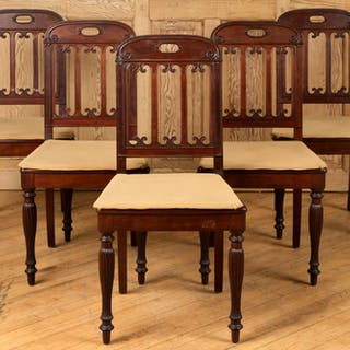 A set of five Louis Philippe French mahogany dining...