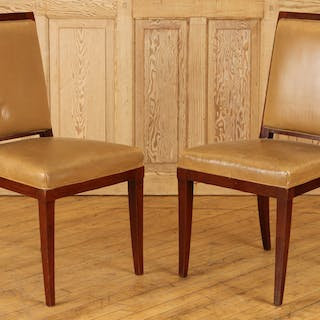 Sale 348 Lot 180 A pair of Cuban mahogany side chairs in...