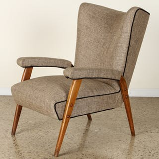 Sale 348 Lot 19 A mid century modern upholstered arm...