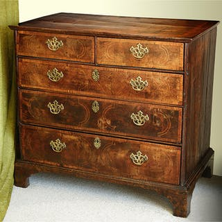 EARLY WALNUT CHEST OF DRAWERS