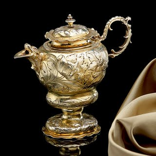 Rare German Silver Gilt Ewer (1659 to 1663 German)