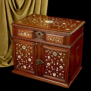 A Walnut table cabinet, English c.1670
