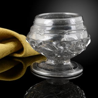 An important English glass Cup or bowl c.1680