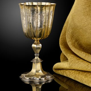 A fine Silver gilt wine cup, German or Swiss c.1630