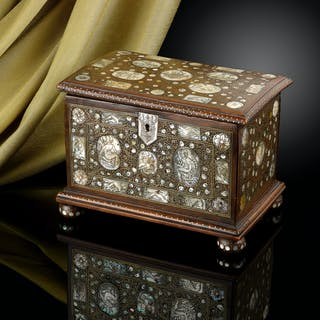 A Walnut Casket C.1670-1680