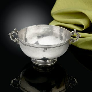 A Fine and Rare low footed Silver Bowl, Trapani, Sicily C.1690