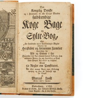 Important early Danish cookery book 1766