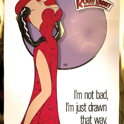 Who Framed Roger Rabbit 2 Mylar 1 Sheet Posters Featuring Jessica Rabbit Barnebys