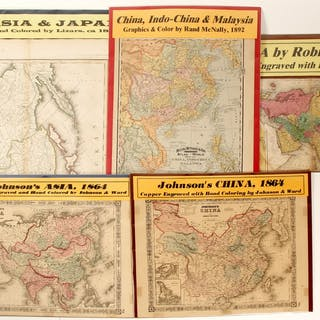 Maps Of Asia 5 62067 Current Sales Barnebys Com
