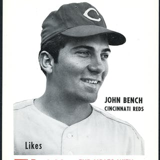 1968 70 Partridge Meats Johnny Bench Rookie Current Sales