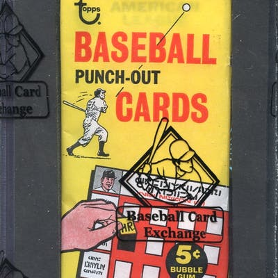 Extremely Rare 1967 Topps Punch Out Unopened Wax Pack Barnebys