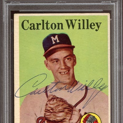 1958 Topps #407 Carl Willey Autographed PSA/DNA AUTHENTIC