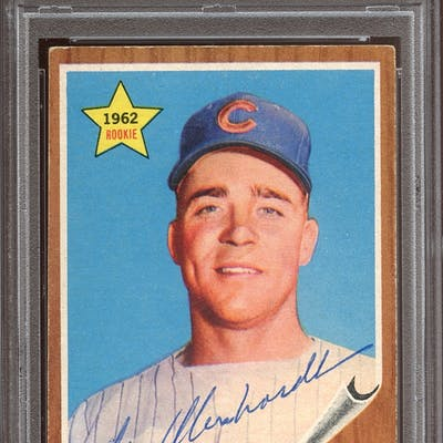 1962 Topps #309 Moe Morhardt Autographed PSA/DNA AUTHENTIC
