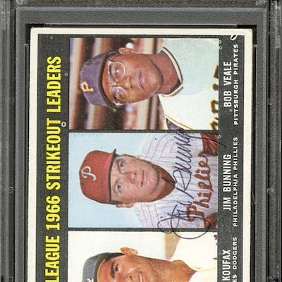 1967 Topps #238 Jim Bunning Autographed PSA/DNA AUTHENTIC