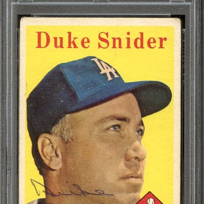1958 Topps #88 Duke Snider Autographed PSA/DNA AUTHENTIC