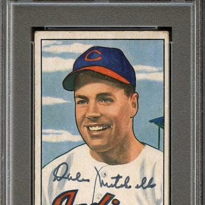 1951 Bowman #5 Dale Mitchell Autographed PSA/DNA AUTHENTIC