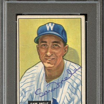 1951 Bowman #168 Sam Mele Autographed PSA/DNA AUTHENTIC