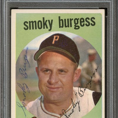 1959 Topps #432 Smoky Burgess Autographed PSA/DNA AUTHENTIC