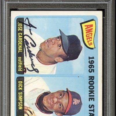 1965 Topps #374 Jose Cardenal/Dick Simpson Autographed PSA/DNA AUTHENTIC