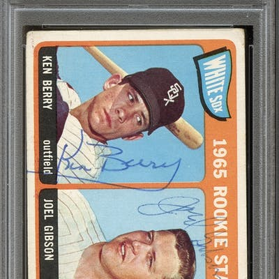 1965 Topps #368 Ken Berry/Joel Gibson Autographed PSA/DNA AUTHENTIC
