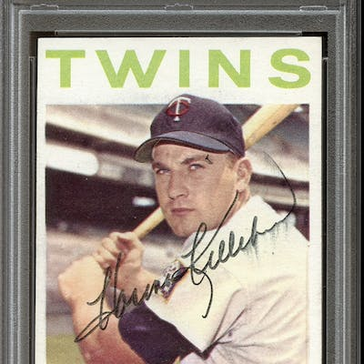 1964 Topps #177 Harmon Killebrew Autographed PSA/DNA AUTHENTIC