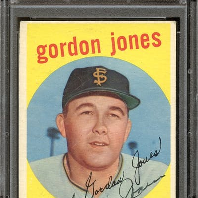 1959 Topps #458 Gordon Jones Autographed PSA/DNA VG/EX 4