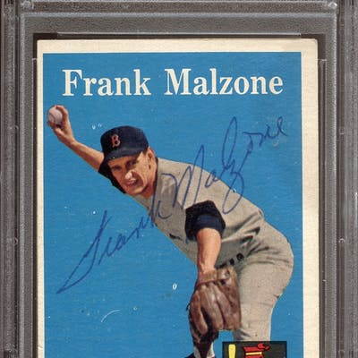 1958 Topps #260 Frank Malzone Autographed PSA/DNA AUTHENTIC